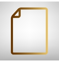 Document sign Flat style icon vector image