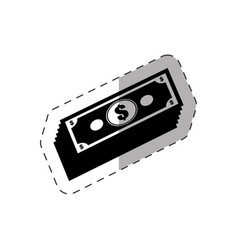 dollar money bills icon vector image