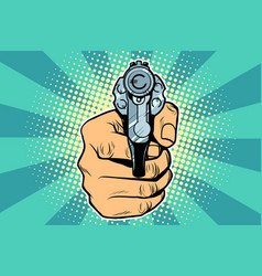 euro currency money finance revolver in hand vector image vector image