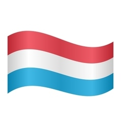 Flag of Luxembourg waving vector image