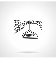 Flat line icon for hanging camp vector