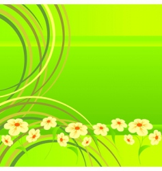 flowers on lawn vector image vector image