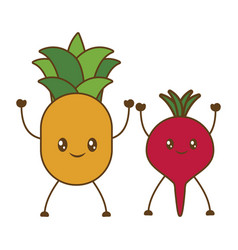 fruits cartoon icon vector image