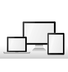 Group computers vector image vector image