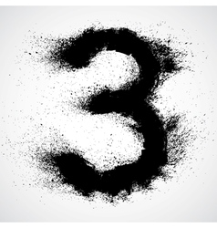 Grunge letter - alphabet symbol design vector