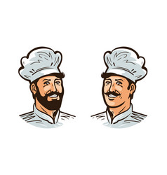 happy cook chef logo or label for vector image vector image