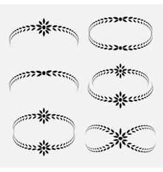 Laurel wreath tattoo set black ornaments signs vector