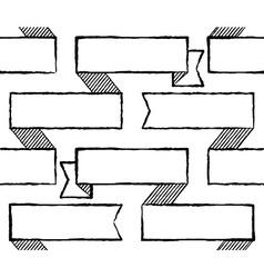 Ribbons seamless pattern vector image