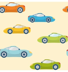 Seamless pattern with sports cars vector image vector image