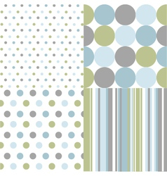 seamless patterns polka dots vector image vector image