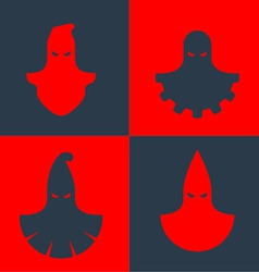 Set of executioner masks vector image vector image