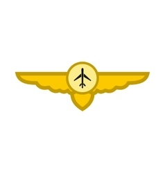 Sign of airplane with wings icon vector