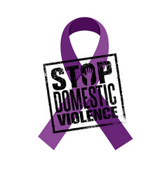 Stop domestic violence stamp creative vector