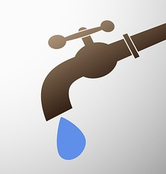 tap with a drop vector image vector image