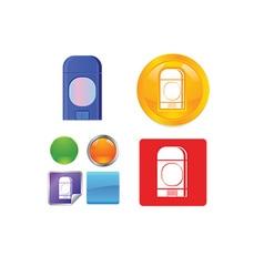 Trash can icon set vector image vector image