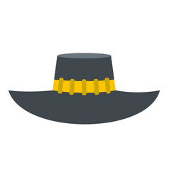 Woman hat icon isolated vector
