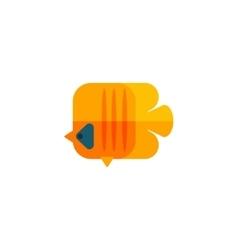Yellow Angel Fish Primitive Style Childish Sticker vector image vector image