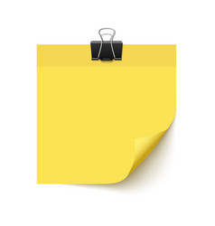 Yellow sticky note paper vector