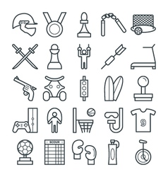 Sports cool icons 4 vector
