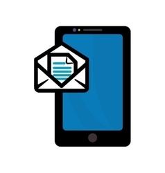 Smartphone gadget with envelope design vector