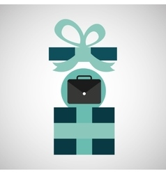 Gift father day with portfolio vector