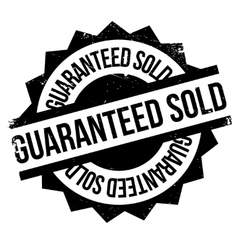 Guaranteed sold rubber stamp vector