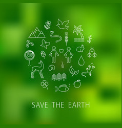 International earth day vector