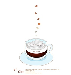 A cup of vienna coffee with whipped cream vector