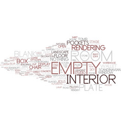Empty word cloud concept vector