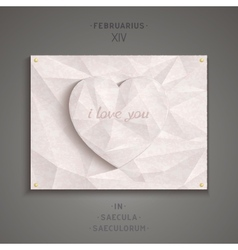 Geometric heart of antique marble vector