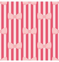 Seamless pattern with tile pink bows red stripes vector