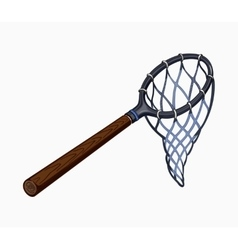 Butterfly net with handle vector