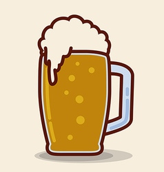 Beer handle icon vector