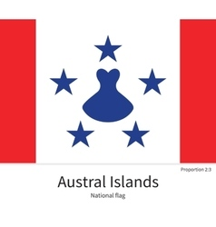 National flag of austral islands with correct vector