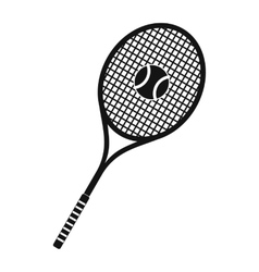 Tennis racquet and ball icon vector