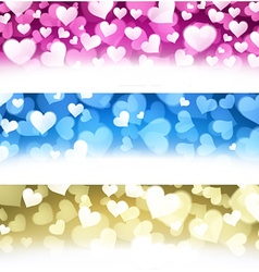 Valentine backgrounds set vector image