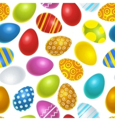 Bright colourful easter eggs seamless pattern vector