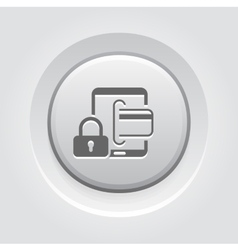 Secure transactions icon vector