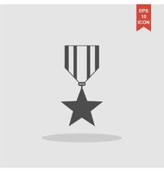 Medal icon flat design style vector