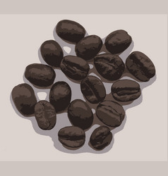 A few coffee beans vector