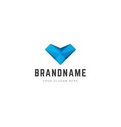 Abstract creative logo 3d vector image vector image