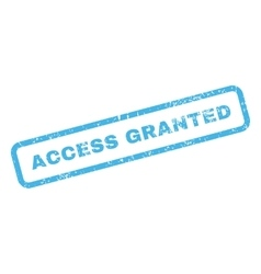 Access granted text rubber stamp vector