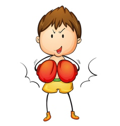 Active kid vector image