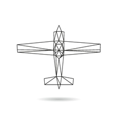 Airplane abstract isolated vector image vector image