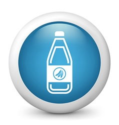 Banana Drink glossy icon vector image vector image