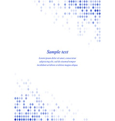 Blue page corner design template vector