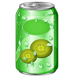 Can of kiwi juice vector