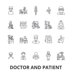 doctor and patient cabinet medical hospital vector image vector image