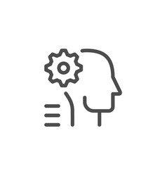 engineer line icon vector image vector image