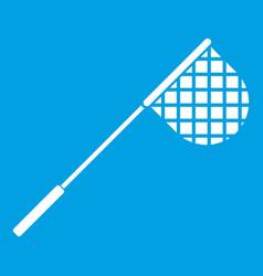 Fishing net icon white vector
